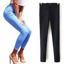 High Waist Jeans For Women Denim Jeans Woman 2016 Black Pencil Women's Jeans Femme Blue Skinny Women Jeans Denim Pants Trousers(China (Mainland))