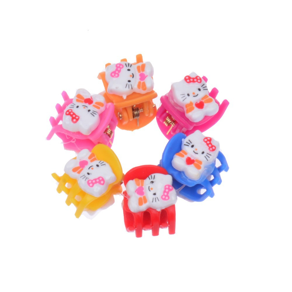 6 pieces Cute kids hair clips Small girls hair accessories baby Hair pins findings Kitty cat Barrette Birthday party gift(China (Mainland))