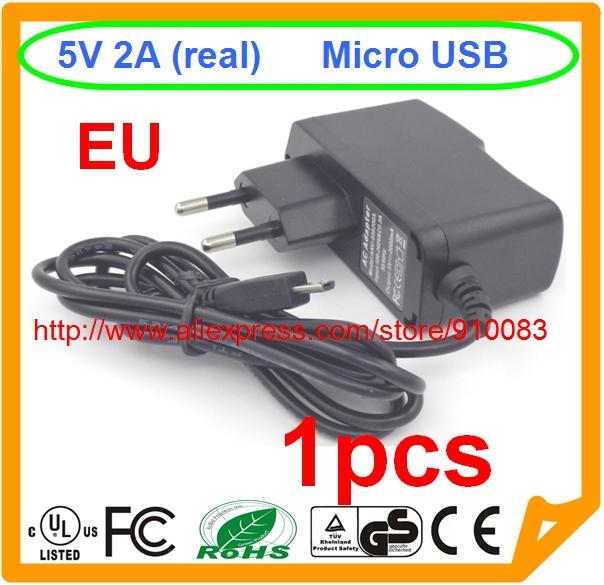 High quality IC 1PCS EU Plug 5V 2A Micro USB AC/DC Wall Charger Adapter For Raspberry PI 2 LG Huawei Samsung S3 S4 S5 HTC(China (Mainland))