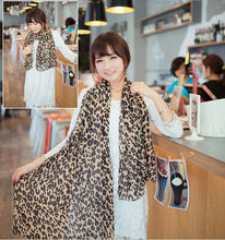 Sexy New Style Fashion Long Silk Leopard Shawl Lady Chiffon Designer Scarves Wrap(China (Mainland))