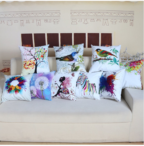 607 Free shipping plush fashion contemporary printed pillow case cushion cover min1pcs 45cm(China (Mainland))