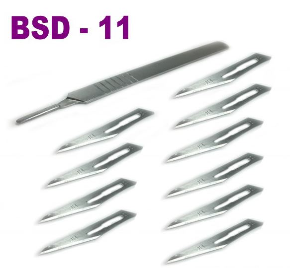 1set 10pcs BSD-11 / 11# blades Medical Scalpel Opening Repair Tools Knife for Disposable Sterile/Mobile Phone/Beauty/DIY(China (Mainland))