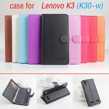 Litchi Lenovo K3 K 3 case cover , Good Quality New Leather Case + hard Back cover For Lenovo K30-W K30W Cellphone Phone Case