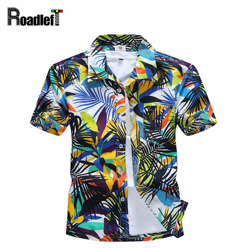 New 2016 Men's clothing summer short sleeve shirts Men hawaiian shirt casual floral shirt camisas masculina, plus size 4XL(China (Mainland))