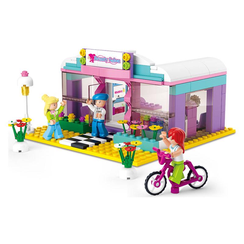 buy sluban 226pcs pink dream beauty salon hair salon kids toys hairdresser. Black Bedroom Furniture Sets. Home Design Ideas
