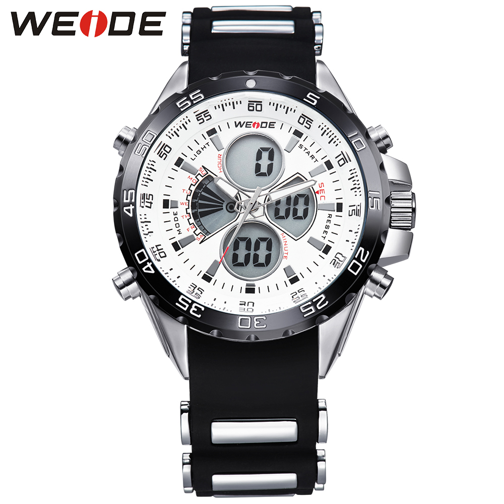 WEIDE Luxury Brand Mens Analog Digital Watches Casual Dual Movement 30m Waterproof Silicone Strap Relogio Masculino<br><br>Aliexpress