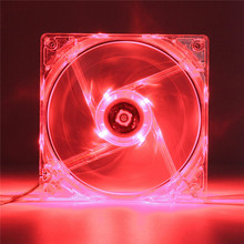 New Arrival 120mm 4Pin Red LED CPU Case Cooling Cooler Fan Quiet For PC Computer DC 12V(China (Mainland))