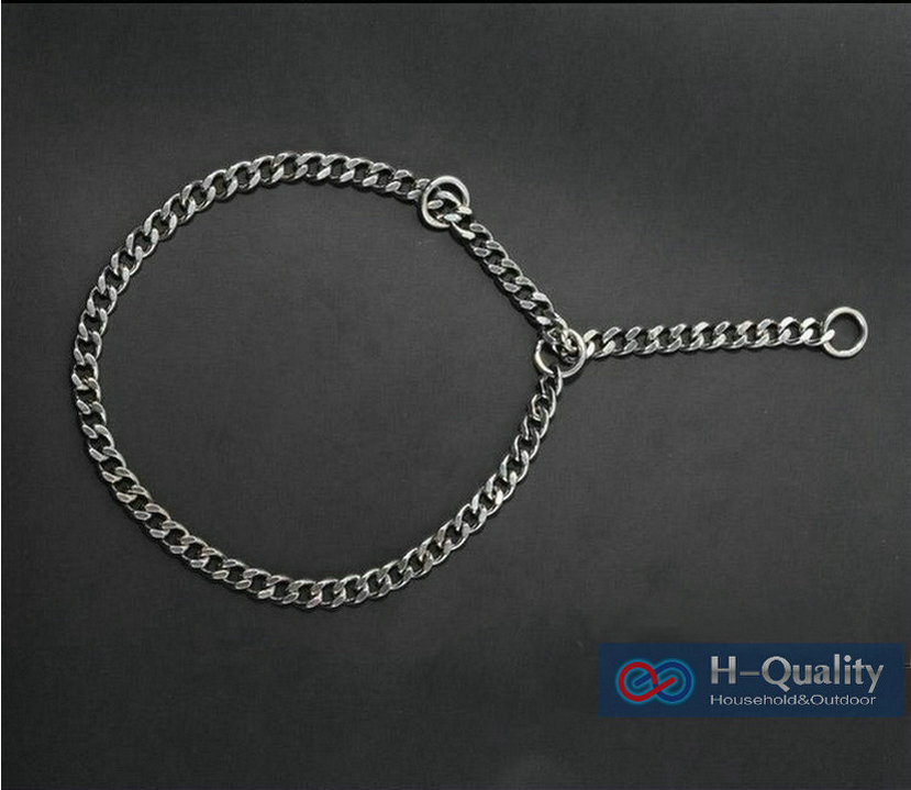 Large L Size Stainless Steel Dog Collar Snake Chain Dog Pet Collar Pole-Chain Smooth And Bright Surface, No Gap Between Links(China (Mainland))