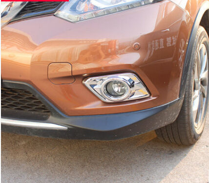 For Nissan X-Trail Rogue 2014 2015 Car Styling Chrome Front Fog Light Lamp Cover Trim Free Shipping