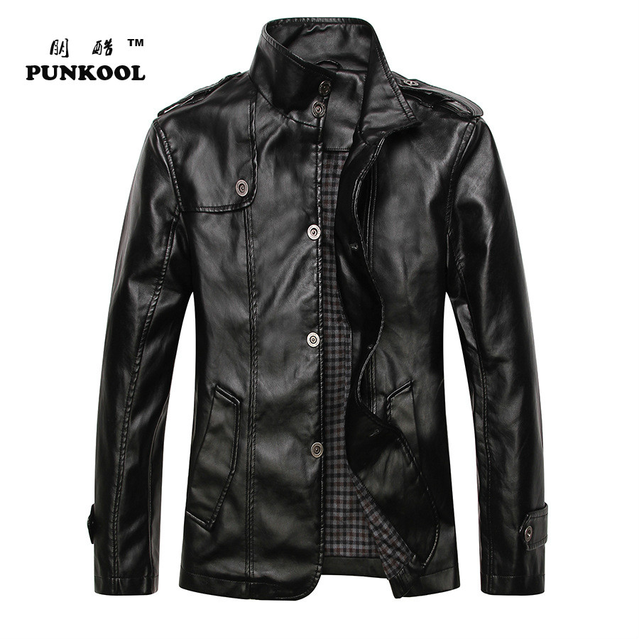 2015 Winter New Korean Slim Men's Pu Leather Jacket  Men Jacket Motorcycle Men High Quality Pu Leather Jacket And Coats