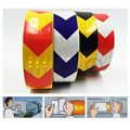 5cmx50m Reflective warning tape with red white yellow red yellow black and blue white color arrow