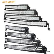 "Auxmart 5D/Tri Row 22"" 32"" 42"" 52"" curved LED light bar 12v 24v combo beam LED Bar Offroad camper truck 4x4 4WD SUV ATV Barra(China (Mainland))"