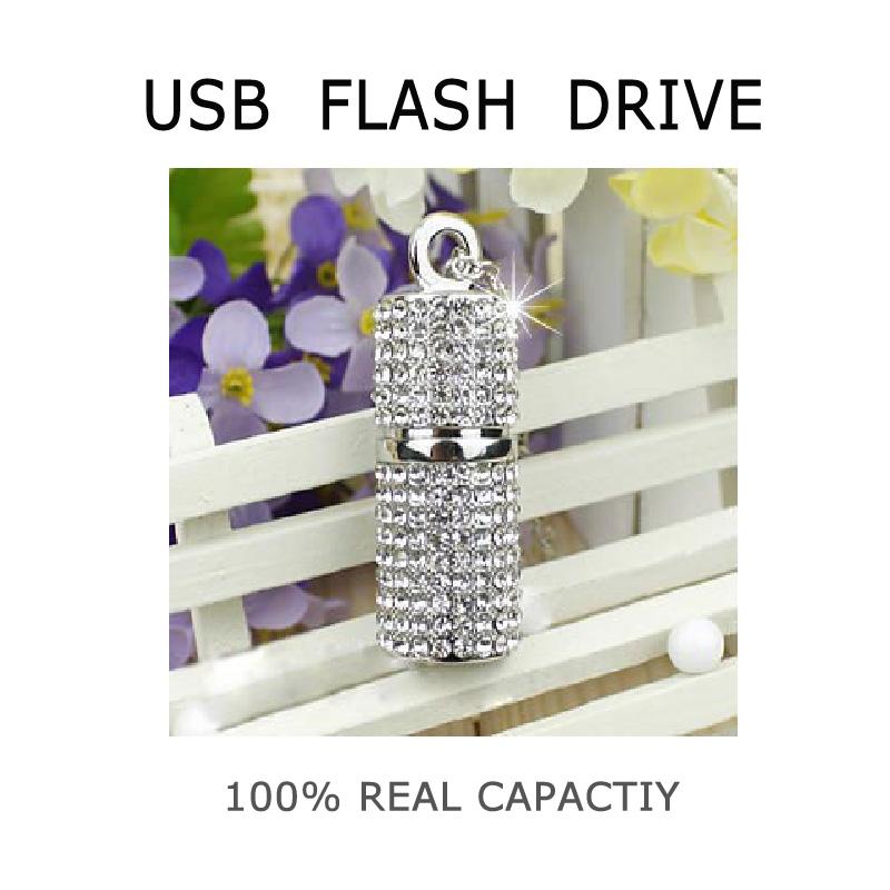 2015 real capacity luxury crystal USB flash drive pen drive 4G 8G 16G 32G 64G pendrive memory stick u disk usb 2.0(China (Mainland))