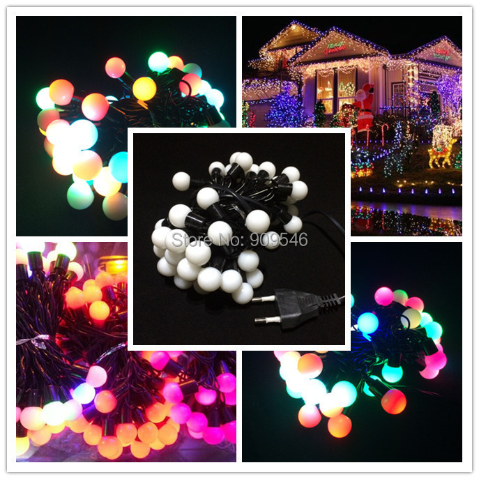 Holiday Decorations Colorful 5M 6W 50 Leds Ball String Lighting Waterproof LED Lights+ Power Plug - Shenzhen BoJia Technology Co., Ltd. store