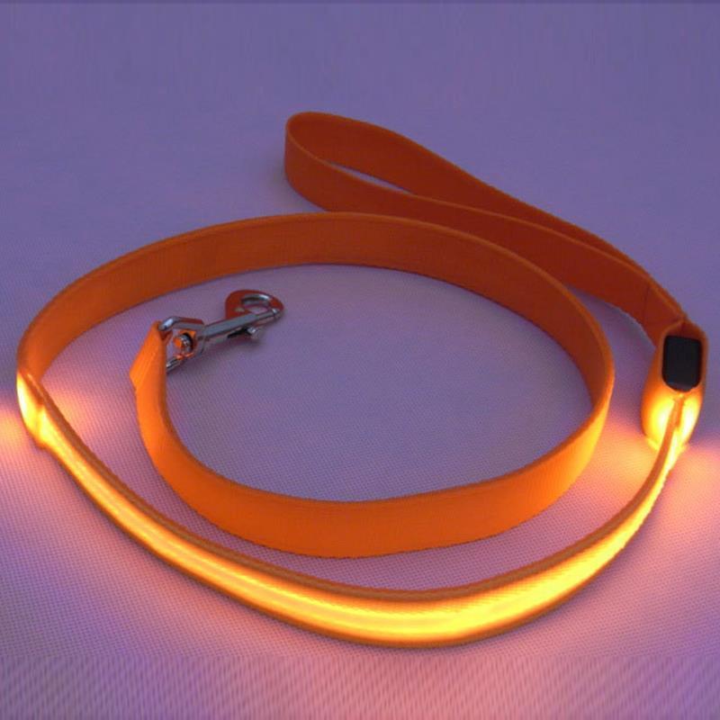 Fashion Productos Para Mascotas Colorful LED Light Dog Leash Night Safety Walking Training Pet Lead Leashes For Dogs 120cm(China (Mainland))
