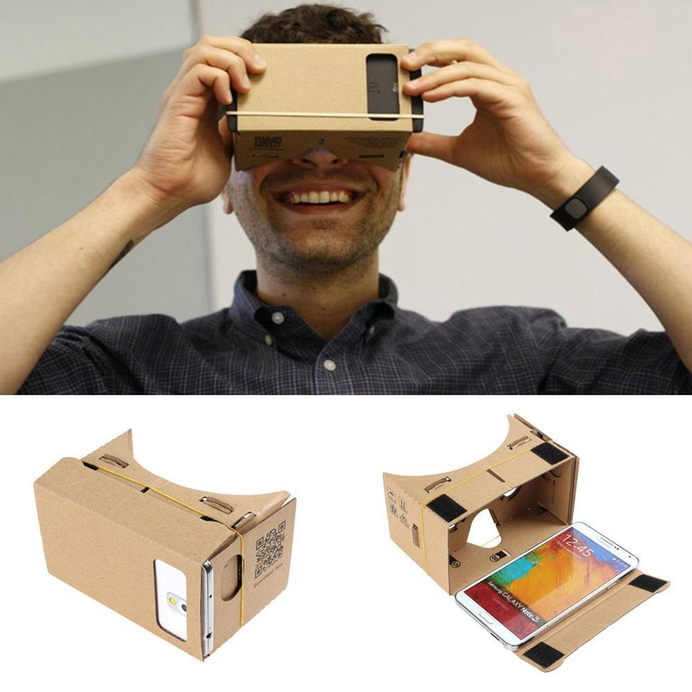 Hight Quality Ultra Clear DIY Google Cardboard VR Virtual Reality 5.5 Mobile Phone 3D Viewing Glasses for 3D Movies Games