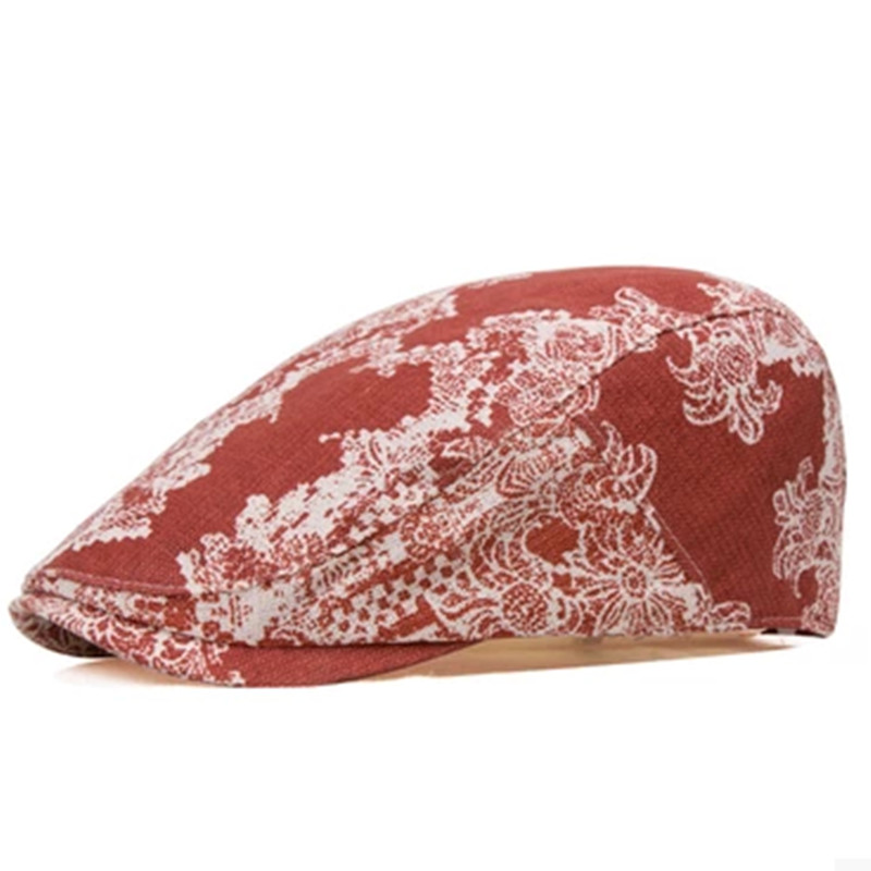 Male beret cap for women hats flower decorative pattern 100% cotton beret personality vintage new fashion casual cap(China (Mainland))
