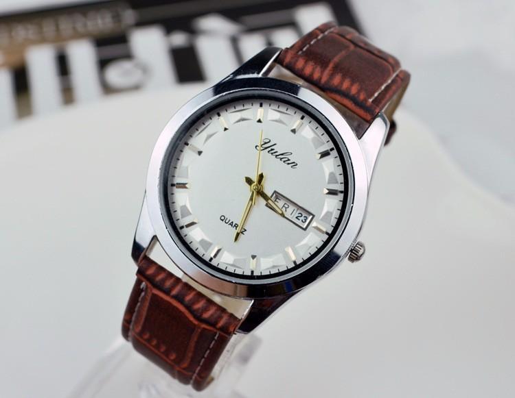 Смотреть полоса 20 мм Двойной календарь кварцевый механизм Женские Часы мужчины Пару часов часы Ремешок Для Часов 16 мм 20 мм Часы женщин YL016