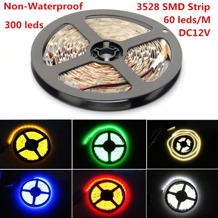 Гаджет  5m 300 LED 3528 SMD 12V flexible light 60 led/m,LED strip, white/warm white/blue/green/red/yellow None Свет и освещение