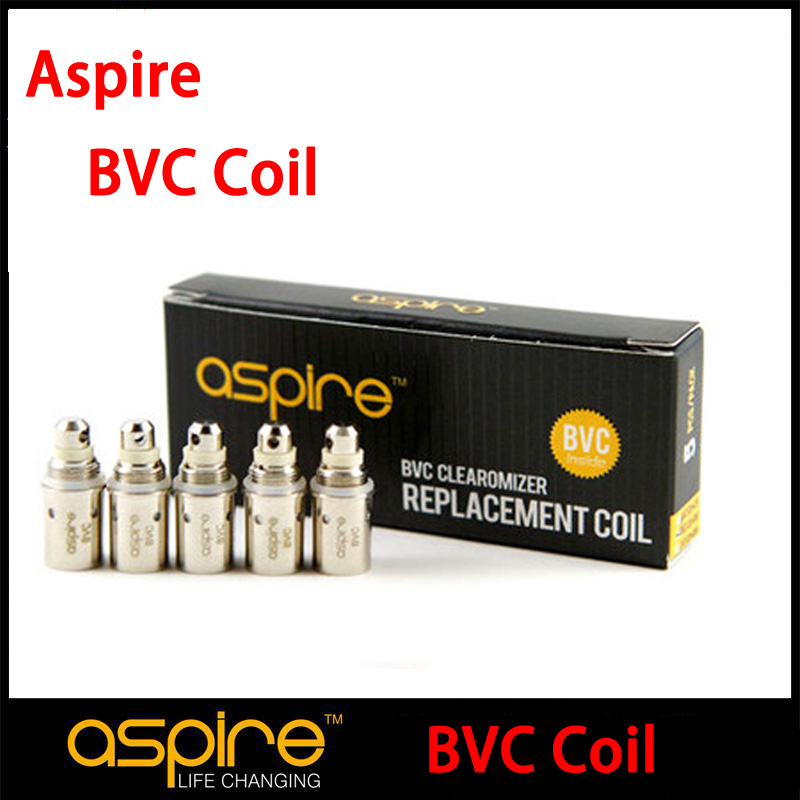 20pc/lot Original Aspire Replacement BVC Coils for  CE5 S ET-S K1 Clearomizer Aspire BVC coil 1.6.1.8,2.1ohm l Coils (MM)