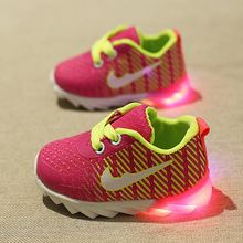Baby Girls led Shoes 2016 Spring New Soft Sole boy Kids Luminous Sneakers trainers Toddle Glowing Sneakers Infantil Menina 600(China (Mainland))