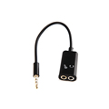 3 position 3 5mm headset splitter adapter stereo TRRS audio male to Earphone headset microphone adapter