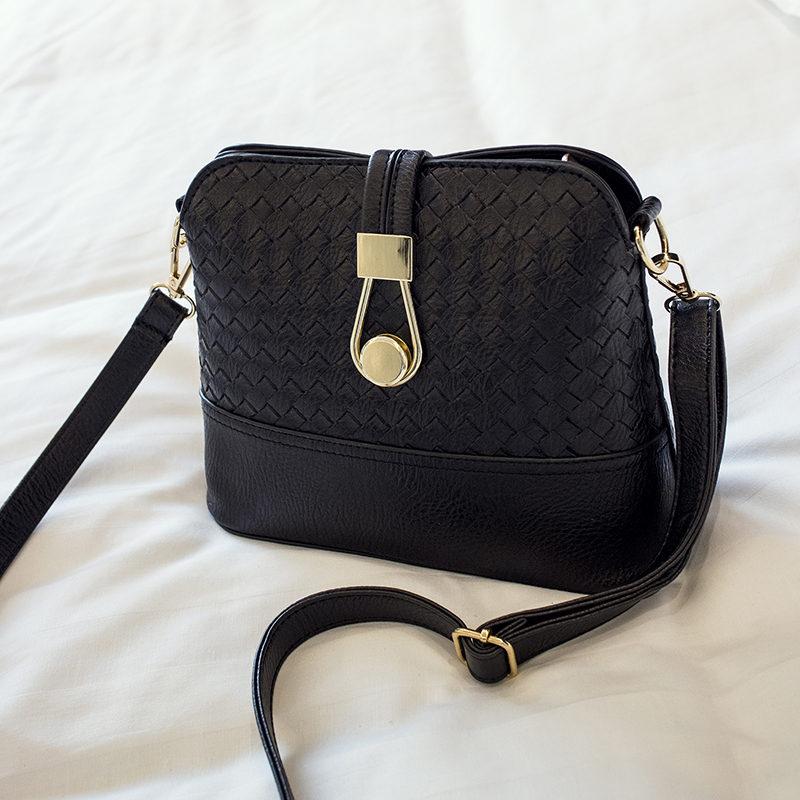 new arrived shell womens handbag high quality  knitting womens  messenger bag small lock  shoulder crooboday bag <br><br>Aliexpress