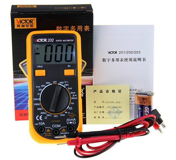 buy victor202 vc202 digital multimeter. Black Bedroom Furniture Sets. Home Design Ideas
