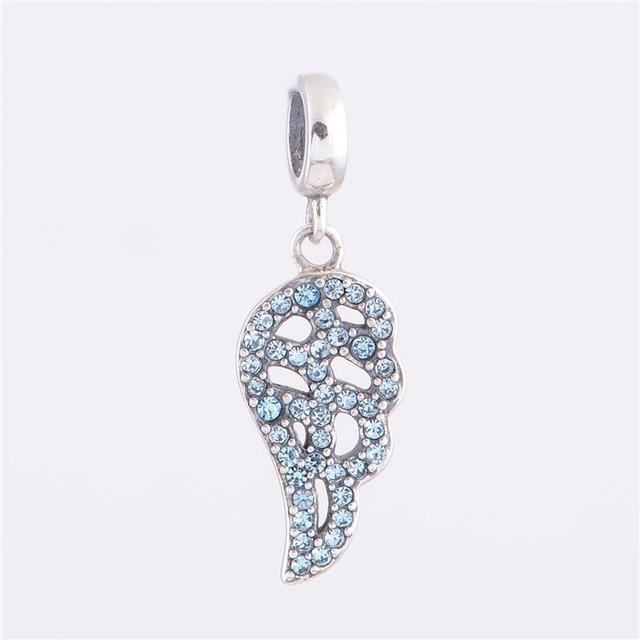 Мода стерлингового серебра 925 бусины европейский шарм выдалбливают угол крыла DIY ювелирных изделий подходит Chamilia стиль браслет