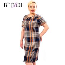 BFDADI 2016 новое женское платье свободного покроя с троса с короткими рукавами о-образным плед платье жаркое летом в стиле платья 3342 - 0(China (Mainland))