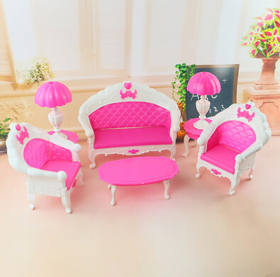 Fashion Baby furniture accessories toys high-grade classical sitting room tea table and sofa(China (Mainland))