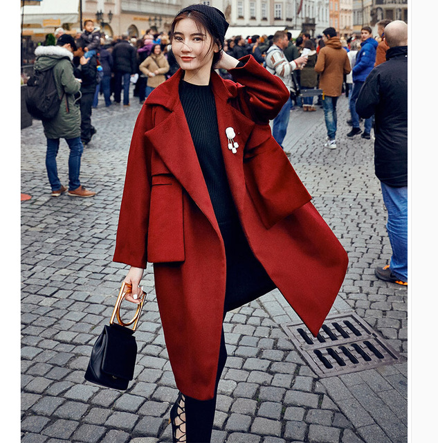 Женщины Зимой Шерстяные Пальто Новая Мода Куртка Женская
