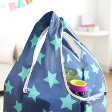 2015 Large capacity Fashion Reusable Shopping Bag Grocery Bags Tote environmental Folding pouch handbags Convenient storage