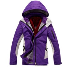Thermal Woman Winter Fleece 3 in 1 Jacket Women Outdoor Windproof Waterproof Coat Skiing Camping Running Hiking 10 Colors J24(China (Mainland))