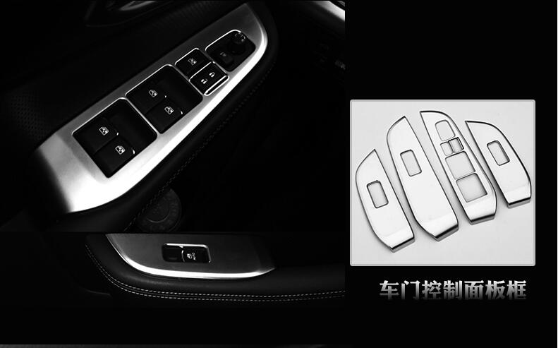 only fits for left hand drive car Matte Interior Door Window Lift Regulator trim 4pcs or Subaru Outback 2015 2016<br><br>Aliexpress