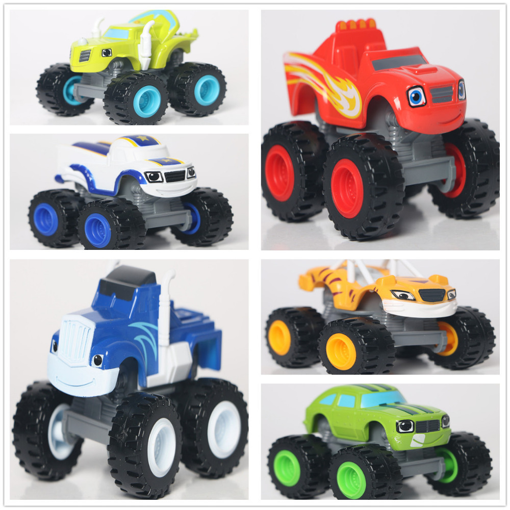 Newest Hot Toys 6pcs/lot Vehicle Car Blaze And Monster Machines Transformation Kids Toys For Children's Gifts(China (Mainland))