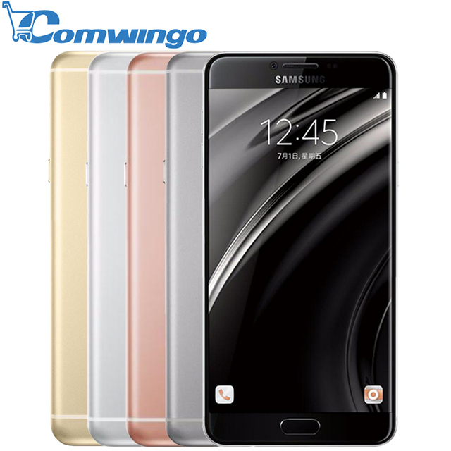 Оригинальный Samsung Galaxy C7 мобильный телефон Android6.0 4 ГБ ОПЕРАТИВНОЙ ПАМЯТИ 32/64 ГБ ROM 16MP Камера 5.7 дюймов Смарт Сотовый Телефон