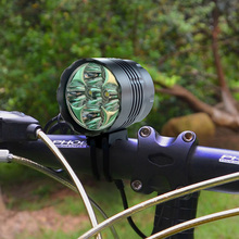 Buy Aluminum Alloy Bike Front Light Ultra Bright 8000LM T6 LED Mountain Road Bicycle HeadLight Headlamp 18650 Cycling Head Light for $25.03 in AliExpress store