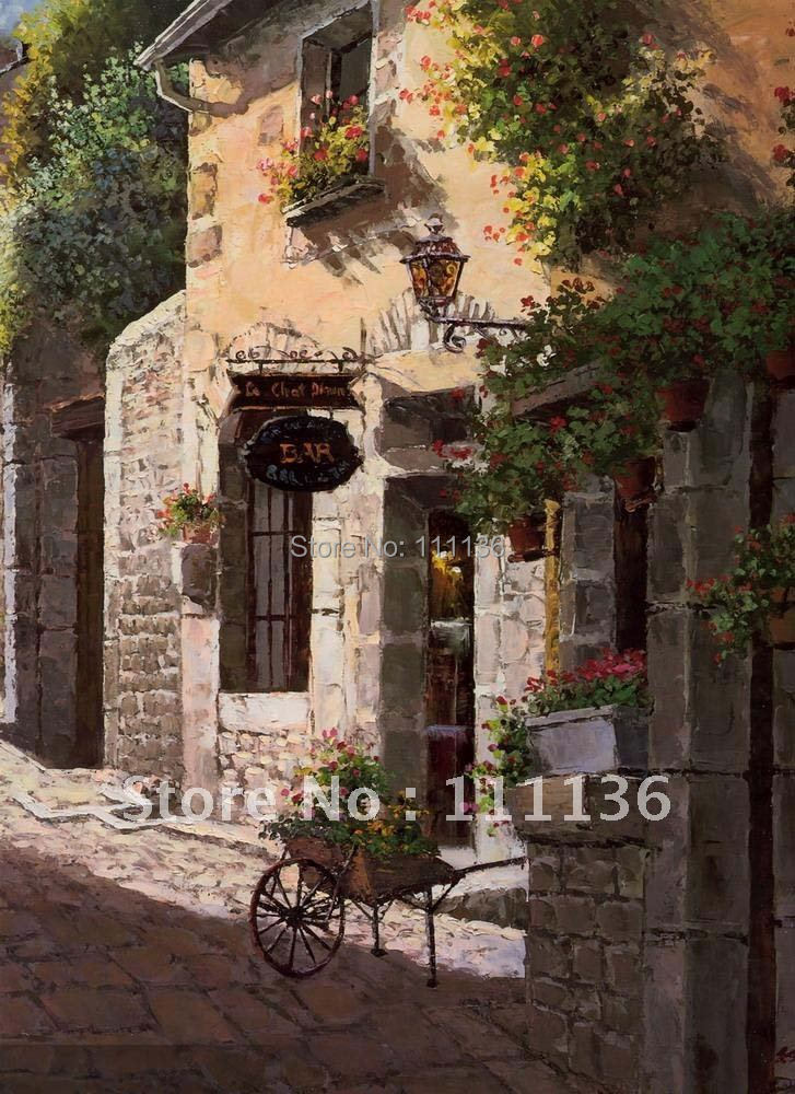 Free shipping!High Quality Modren Stretched Mediterranean Sea Landscape Oil Painting on Canvas Artwork Home decoration(China (Mainland))