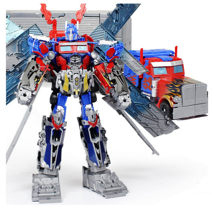 55cm High quality Transformation Optimus Prime Robots Classic Toys for Children,the ultimate version of super toyfree shipping(China (Mainland))
