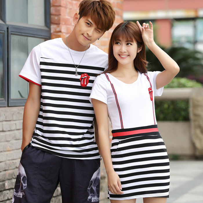 Korean Couple Shirts Dress
