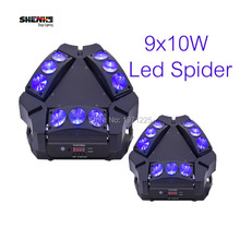 Buy , 2pcs MINI LED 9x10W Led Spider Light RGBW 16/48CH 4in1 Moving Head Stage Lighting Led Spider Moving Head Beam Light DJ Disco for $383.00 in AliExpress store