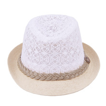 Kids Lace Hollow Out Mesh Hats For Boy And Girl Summer Wide Brim Straw Cap Trilby Fedora Cowboy Hat Casual Outdoor Sunhat 2016(China (Mainland))