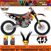 Custom Team Graphics Backgrounds Decals 3M BB Stickers Kit KTM SX SXF 03-04 05-06 10 EXC 05 06 07 - PowerZone Co.,Ltd store