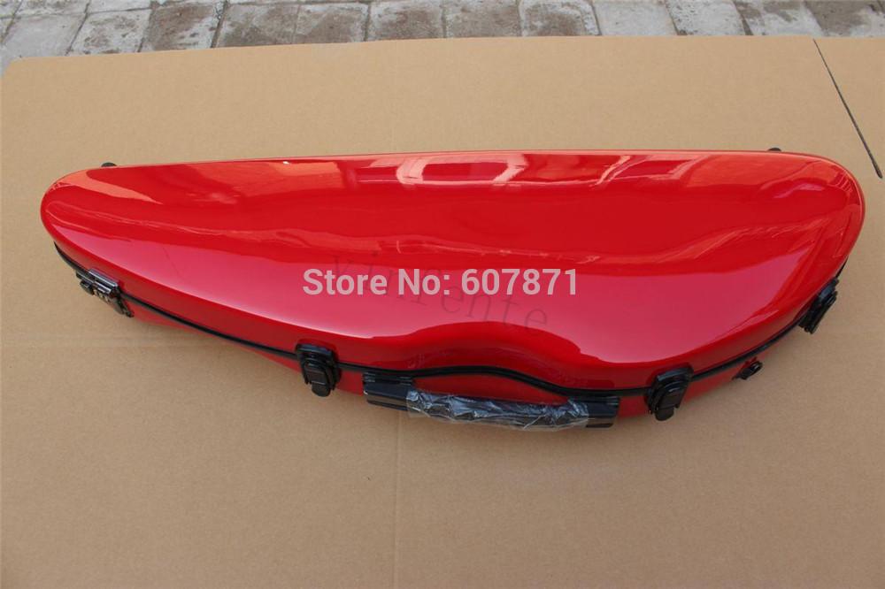 Фотография red   color  Glass Fiber 4/4 New Violin Case Light Strong #003