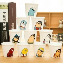 small home glass cartoon graphic patterns cup ceramic Mugs cup Mugs milk coffee cup Crooked neck