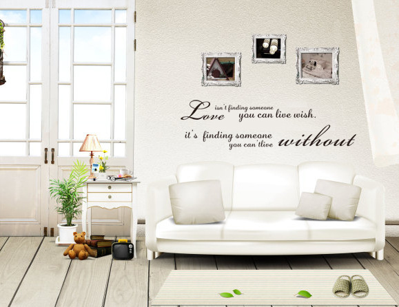 Love quote Creative family wall stickers home decoration living room bedroom design sticker removable vinyl wall decals 9104(China (Mainland))