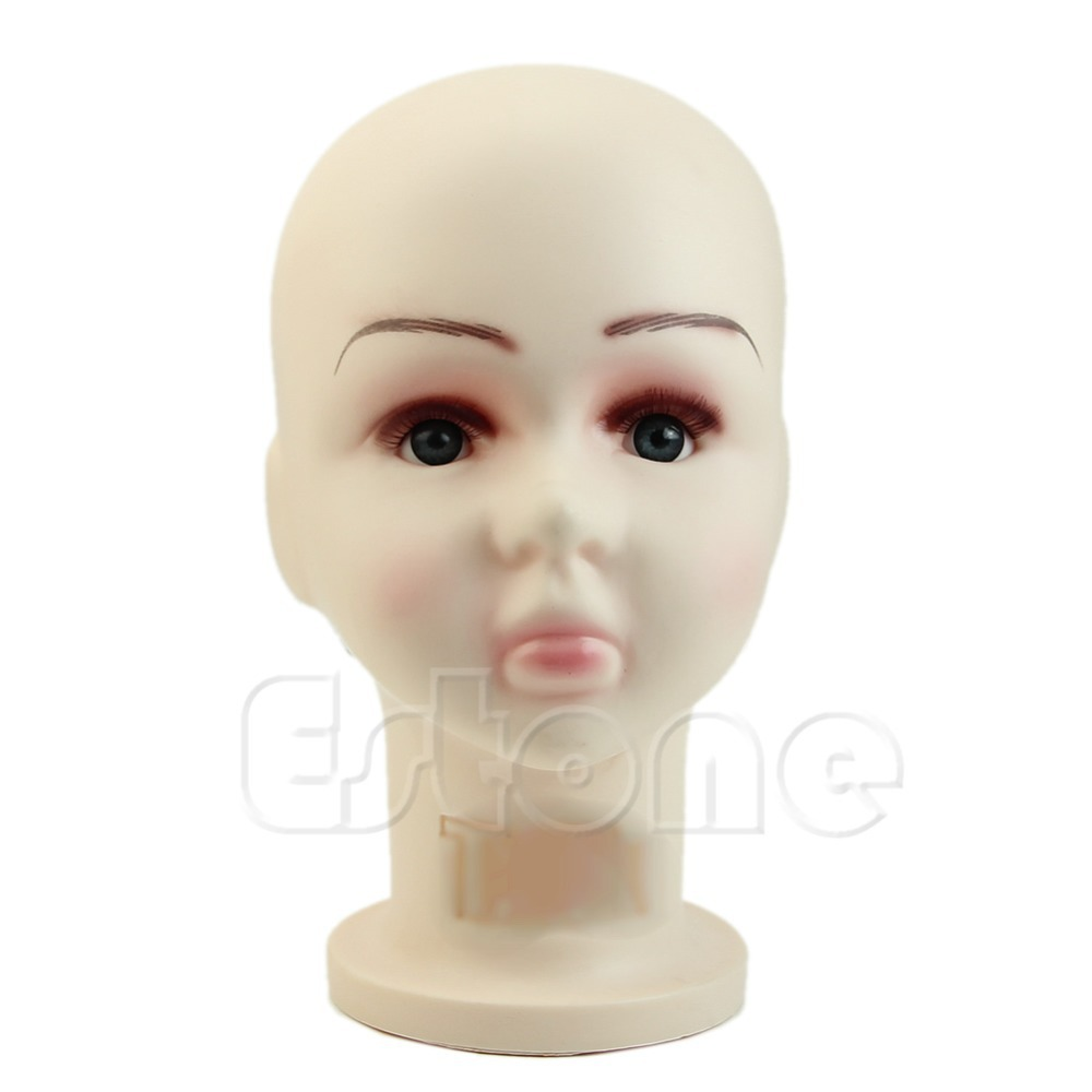 Y142 Hot 1PC Children Mannequins Manikin Head Wig Hats Mould Show Stand Model Display Medium Size(China (Mainland))