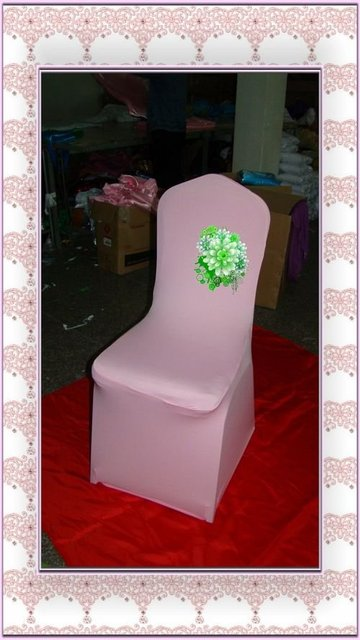 Top quality lime green spandex chair cover/lycra chair cover