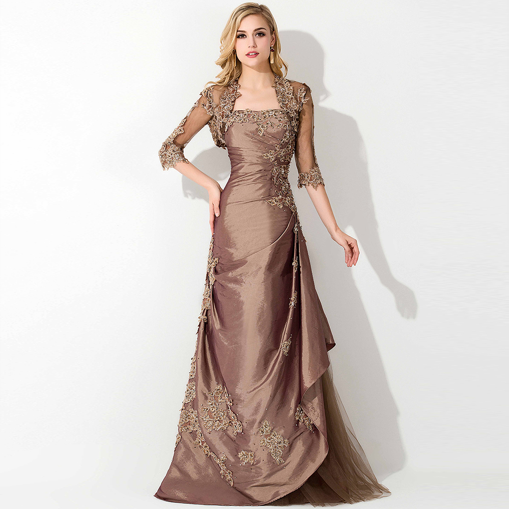 Lace jacket mother of the bride dresses with jacket formal for Formal wedding dresses for mother of the bride